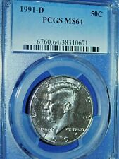 1991-D 50C Kennedy Half Dollar-PCGS MS64--192-1