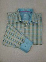 Bugatchi Men's Flip Cuff Large Button Down Shirt Shaped Fit  Pre-owned