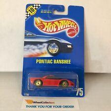 Pontiac Banshee #75 * Red w/ GOLD Ultra Hot Rims * Hot Wheels Blue Card * WE5