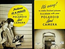 Polaroid Land Camera Pictures in a Minute 1950s Manual & Brochures