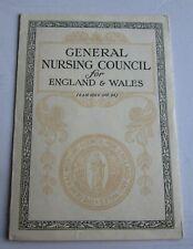 Nursing ephemera Certificate 1945 General Nursing council England & Wales