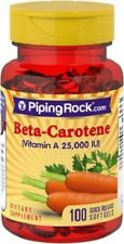 Beta Carotene (Vitamin A), 25,000 IU, 100 Softgels