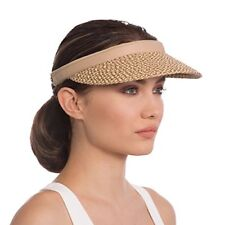 9c9d2f2440c Eric Javits Bradfield Visor Peanut Uva uvb Sun Protection Summer Sun Hat