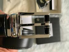 """New BOXED Men's Leather Belt by Mont Blanc 28"""" waist"""