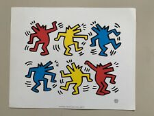 KEITH HARING, 'DANCING DOGS' RARE AUTHENTIC 1992 ART PRINT
