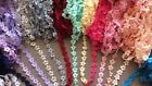 Multi~ Embroidered Lace Trim Wedding Dress Ribbon Applique Sewing Craft Fabric
