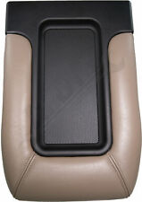 APDTY 035923 Center Console Hinge & Faux Leather Lid Armrest Replacement Kit Tan