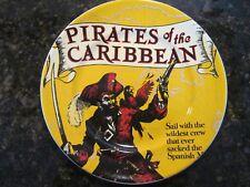 "Walt Disney Parks, NEW 7"" Ceramic Plate, Pirates of the Caribbean w/ Pirate Pic"