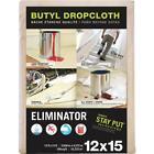 Trimaco Eliminator Butyl-Back Canvas 12 Ft. x 15 Ft. Heavy-Duty Drop Cloth 4 pk
