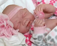 SNUGGLY BABY GIRL! Berenguer Life Like Reborn Preemie Pacifier Doll +Extras