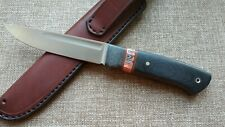 "G.Dedyukhin fixed hunting knife ""Scandi"" Handmade in Bark River Style"
