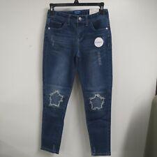 Girls Youth Arizona Super Skinny Jeans Star Motto Size 14 Reg Adjustable Waist