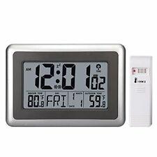 UMEXUS Atomic Wall Desk Clock Large Display with Indoor Outdoor Temperature D...