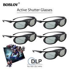 5PCS Active Shutter 3D Glasses DLP-Link USB Rechargeable For BenQ Acer Projector