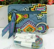 Vera Bradley Campus Double ID Case and Lanyard Painted Medallion