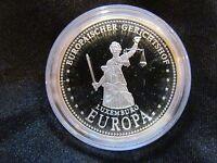 Medaille EU Europäischer Gerichtshof Silber 999 PP Gedenkprägung