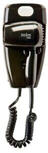 Jerdon JWM8CB 1600W Wall Mount Hair Dryer with LED Night Light - Plug In