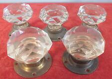 5 poignees de porte cristal resine facettes door handles