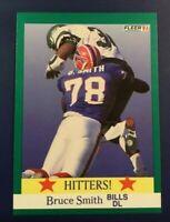 1991 Fleer # 396 BRUCE SMITH Hitters Buffalo Bills DL Sweet Card !