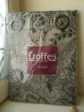 Rideau gris argenté COMPAGNIE DES ETOFFES 140 x 280 cm - Silver flower curtain