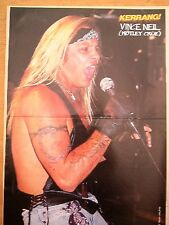"MOTLEY CRUE Vince Neil in a black singlet Centerfold magazine POSTER  17x11"""