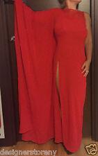 LA PERLA ETHNO SOUTACHE Red Resort Dress Kaftan size 4 $995