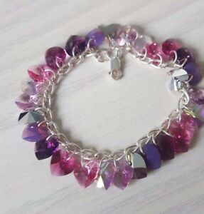 925 Sterling Silver Swarovski Elements crystal Bracelet