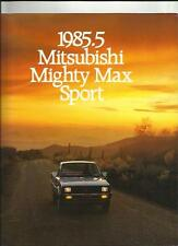 MITSUBISHI MIGHTY MAX SPORT PICK UP TRUCK OVERSIZED USA SALES BROCHURE 1985/86