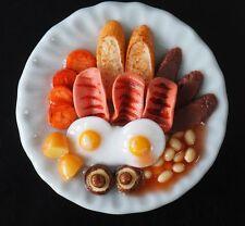 1:6 Dollhouse Miniature British Food Breakfast Ham Eggs Supply Deco Barbie Blyth