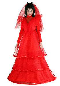 Red Gothic Wedding Dress Costume (Beetlejuice) 5X *** WAS $120 NOW $100 ***