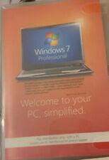 WINDOWS 7 PRO 32BIT SP1 FULL VERSION GENUINE WITH DVD & KEY