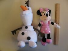 Ty Frozen Olaf Snowman and Minnie Mouse Plush Toys Cute Beanie Baby Disney