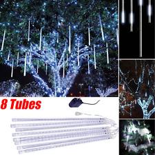 144LED Meteor Shower Rain Drop Fairy Light Falling Star Tube String Xmas Outdoor