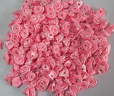 50/100pcs 12mm flower bud Satin Ribbon Rose Flower DIY Craft Wedding Appliques