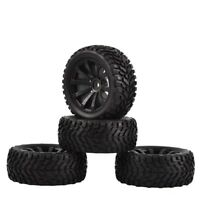 4PCS Rubber Off-road Tires Wheels for Traxxas Tamiya HSP HPI Kyosho 1/10 RC Cars