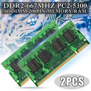 2GB 4GB DDR2-667MHz PC2-5300 SODIMM Memory RAM 200pin Non-ECC For Intel For Mac