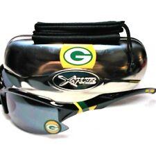 Green Bay Packers 3D Logo on Xtreme Black Wrap Sunglasses! 3 PC set! Unisex