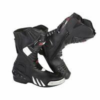 Men Motorcycle Waterproof Bikers Shoes Motorbike Genuine Leather Boots Armour CE