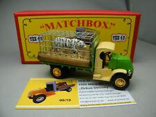 Matchbox MoY Code 2 YEX-42 Mack Zirkus mit Tiger Komplettumbau rote Box 1 von 6