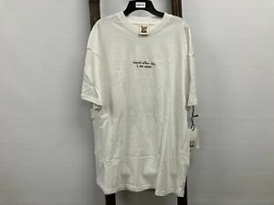 """NEW Insight - """"repeat after me - I AM FREE"""" t-shirt White Mens Sz L RRP$49.95"""