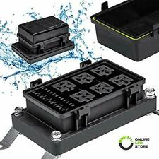 Waterproof Relay/Fuse Block For Automotive And Marine 6-Slot Bosch Style Holder