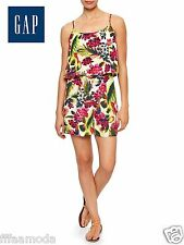 NWT $59.99 Sz. S GAP Women's Layered Tropical Floral Romper 100 % Rayon