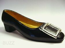Patently Perfect Classic Black with Huge Buckle c. 1903 Just the Right Shoe