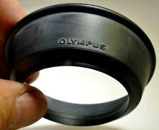 Olympus OM 28mm f2.8 f3.5 Lens 49mm threaded Rubber Hood shade 35mm f2.8 Zuiko