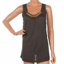 Viscose Scoop Neck Formal Sleeveless Tops & Shirts for Women
