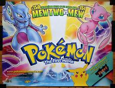 Pokémon The First Movie 1999 Original Quad Film Poster