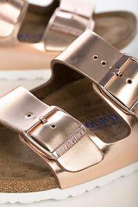 Birkenstock Arizona LEDER Weichbettung 36 normal metallic copper Sandalen 952091