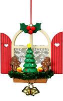 "Christian Ulbricht 10-0569 Ornament-Window with Gingerbread-3"" H x 3"" W x 1"" ..."