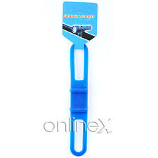 Soporte Linterna Silicona para Bicicleta  Azul a938