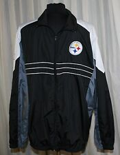 NFL Pittsburgh Steelers Football Jacket L Windbreaker Light Weight SI Zip